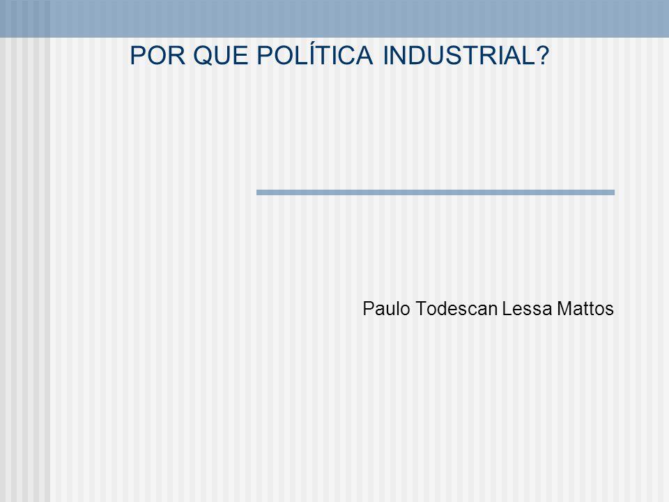 POR QUE POLÍTICA INDUSTRIAL? Paulo Todescan Lessa Mattos