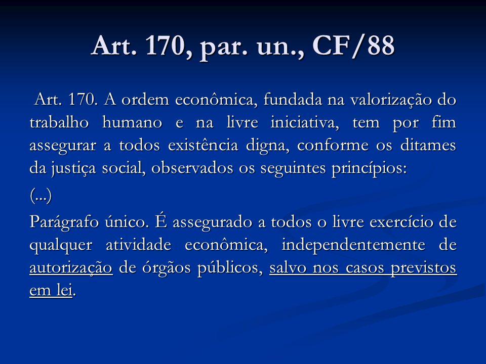 Art.170, par. un., CF/88 Art. 170.