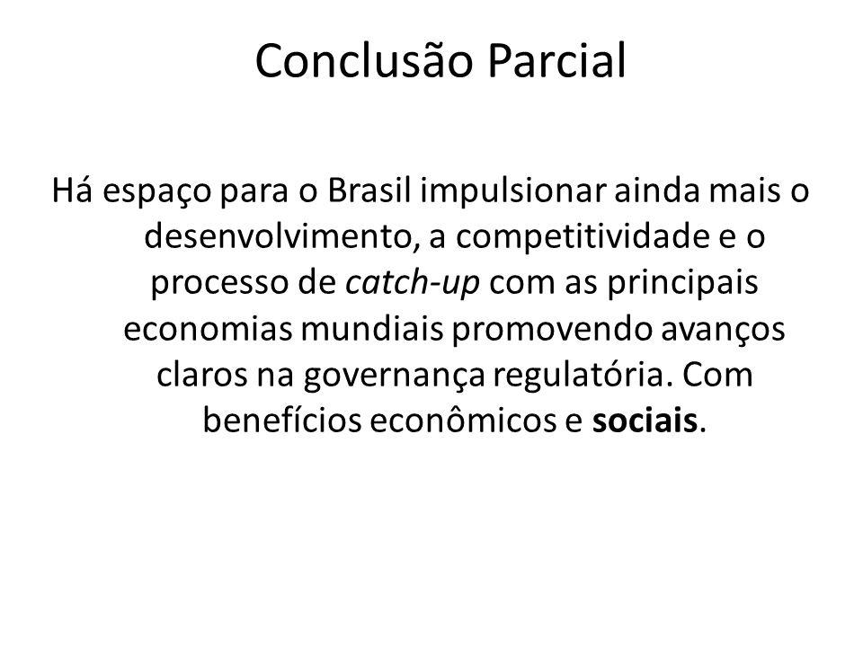 Conclusão Parcial Há espaço para o Brasil impulsionar ainda mais o desenvolvimento, a competitividade e o processo de catch-up com as principais econo