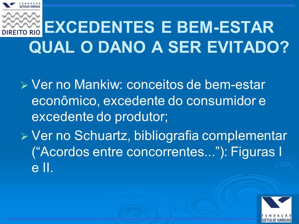 EXCEDENTES E BEM-ESTAR QUAL O DANO A SER EVITADO.