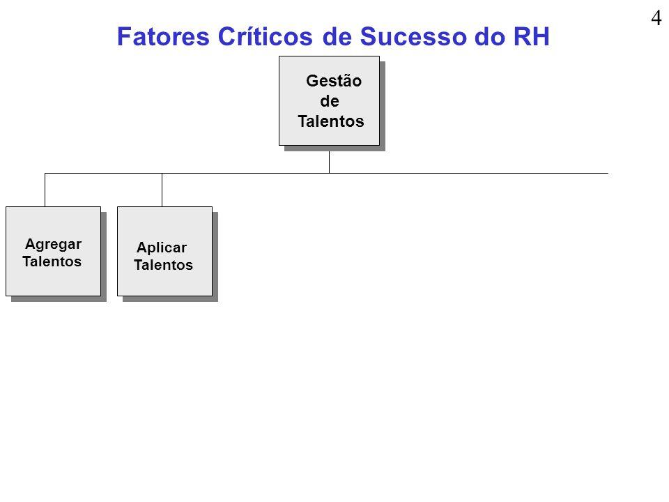 Fatores Críticos de Sucesso do RH Agregar Talentos Aplicar Talentos Gestão de Talentos 4