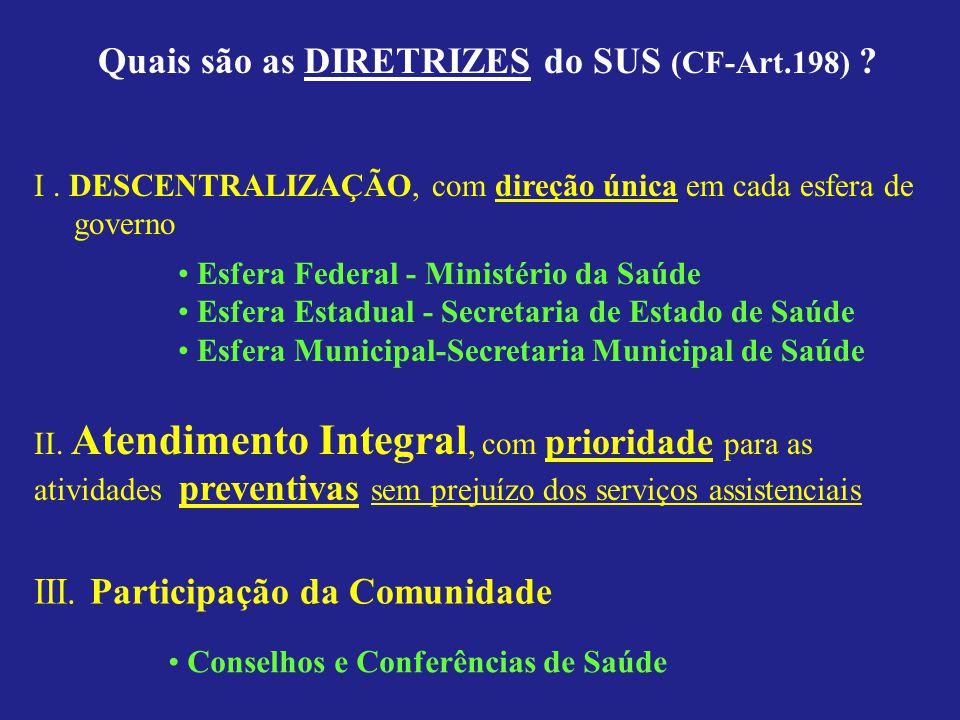 Gestão Financeirado SUS Gestão Financeira do SUS (Art 33 ao 35) Os recursos financeiros do SUS serão depositados em conta especial, em cada esfera de sua atuação, e movimentados sob fiscalização dos respectivos Conselhos de Saúde.
