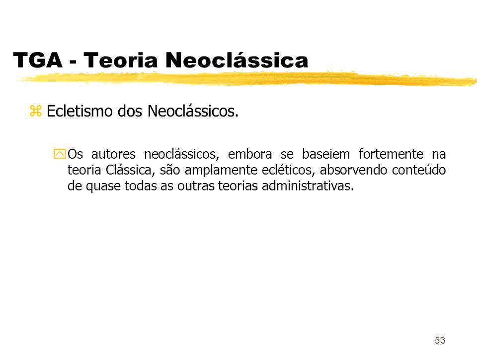 53 TGA - Teoria Neoclássica zEcletismo dos Neoclássicos.