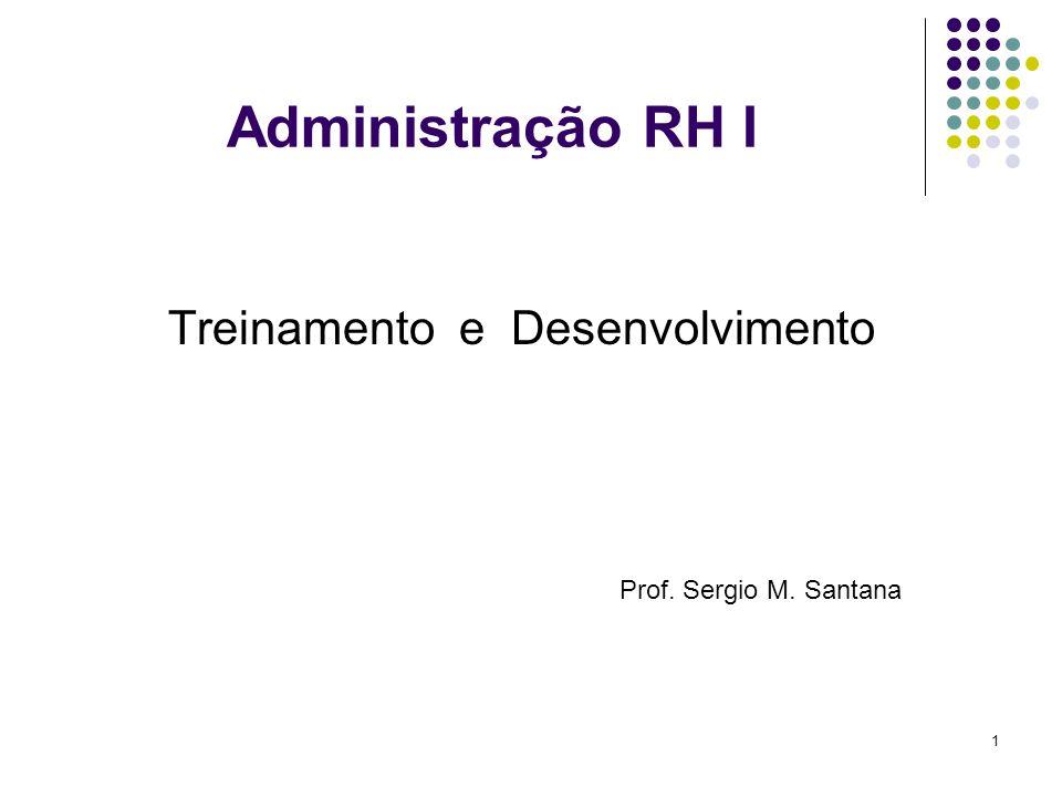 1 Administração RH I Treinamento e Desenvolvimento Prof. Sergio M. Santana