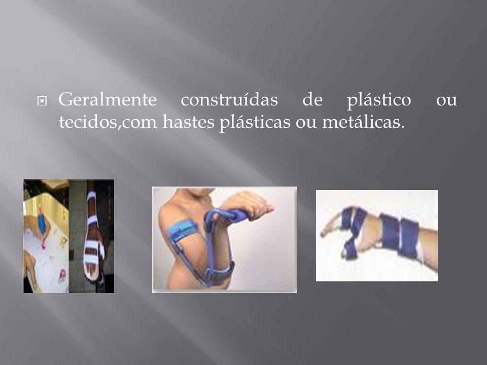 Geralmente construídas de plástico ou tecidos,com hastes plásticas ou metálicas.