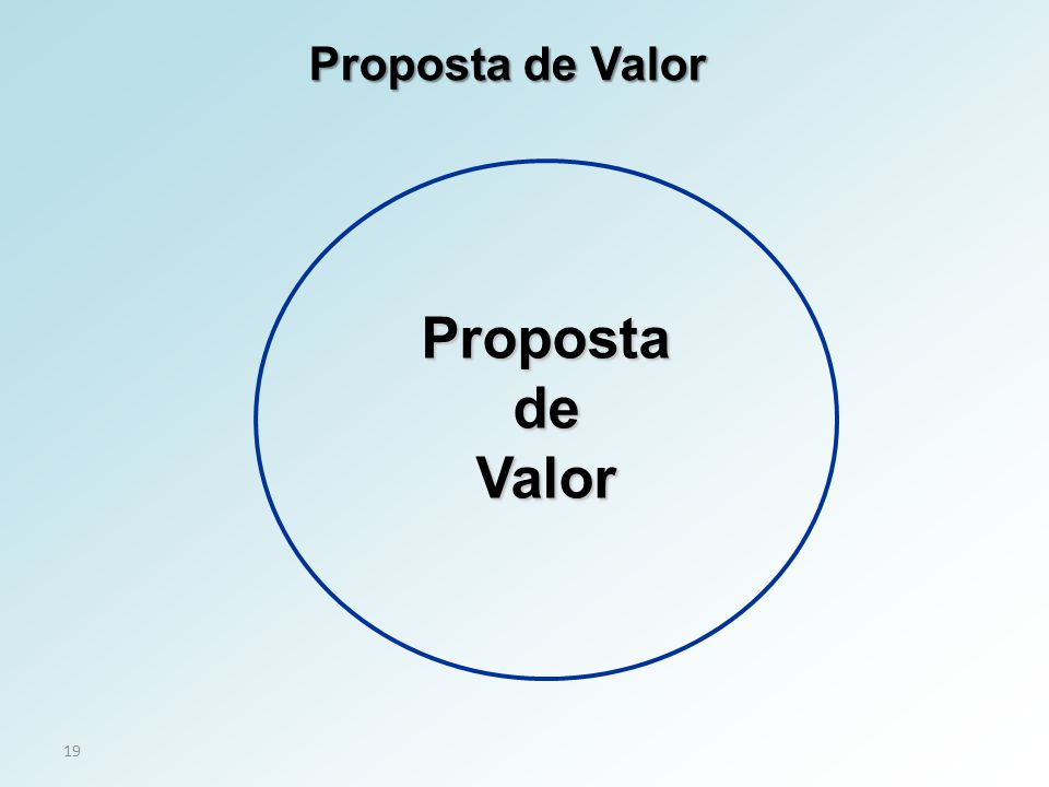 19 PropostadeValor Proposta de Valor
