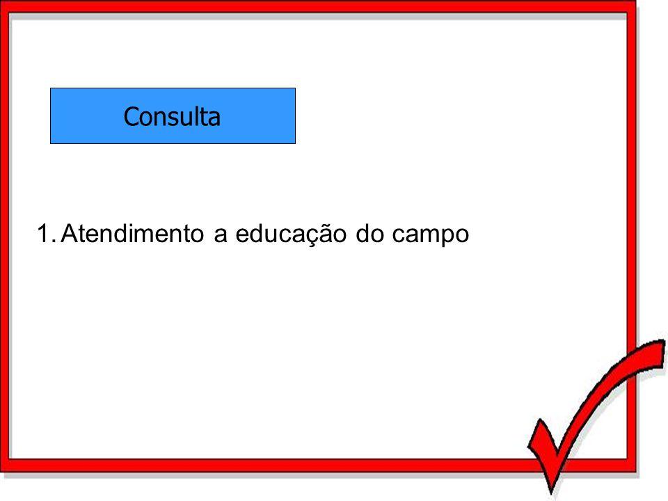 Consulta 1.Atendimento a educação do campo