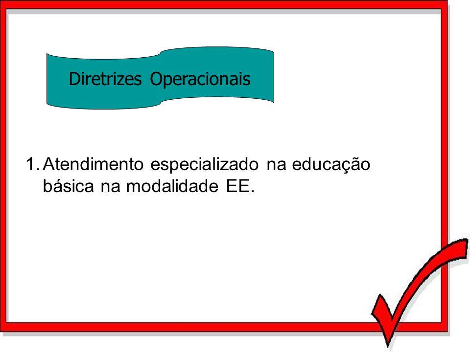1.Atendimento especializado na educação básica na modalidade EE. Diretrizes Operacionais