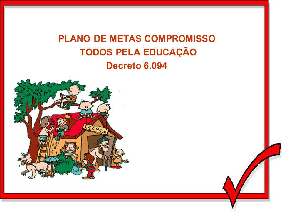 PLANO DE METAS COMPROMISSO TODOS PELA EDUCAÇÃO Decreto 6.094