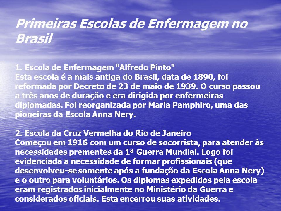 Primeiras Escolas de Enfermagem no Brasil 1. Escola de Enfermagem