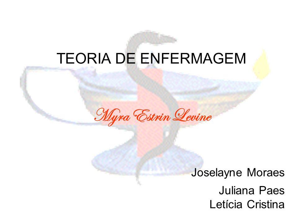 TEORIA DE ENFERMAGEM Myra Estrin Levine Joselayne Moraes Juliana Paes Letícia Cristina