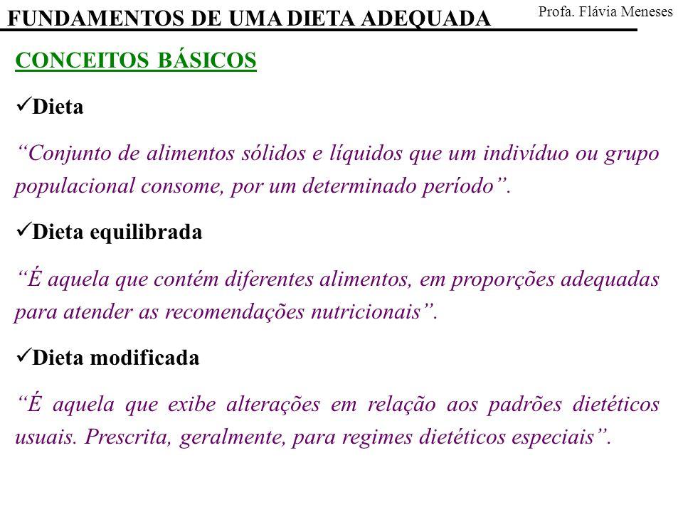 FUNDAMENTOS DE UMA DIETA ADEQUADA Profa.Flávia Meneses REFERÊNCIA BIBLIOGRÁFICA Cuppari, L.