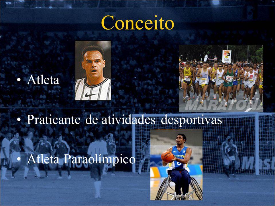 Conceito Atleta Praticante de atividades desportivas Atleta Paraolímpico