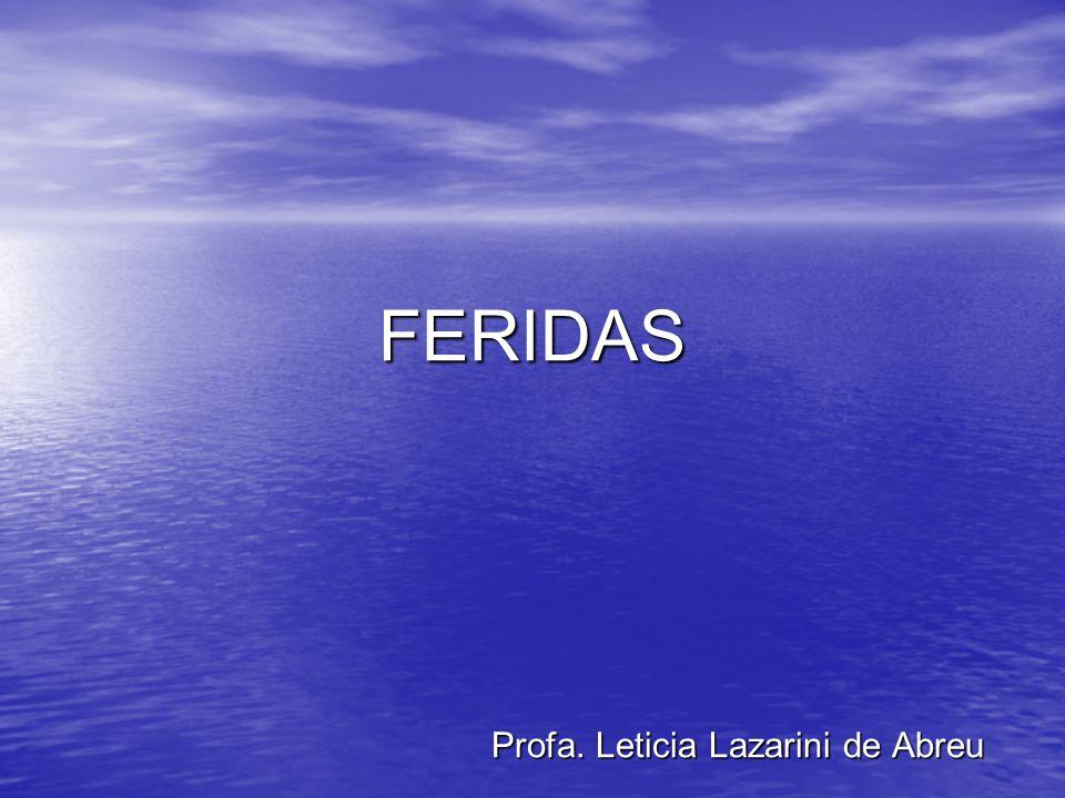 FERIDAS Profa. Leticia Lazarini de Abreu