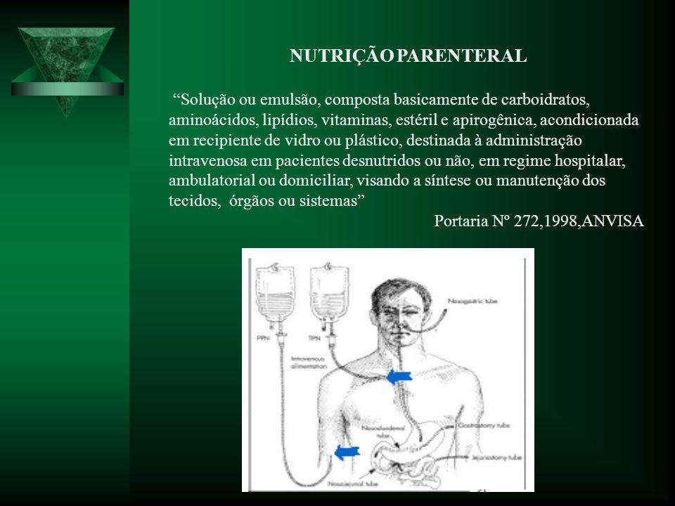 As atribuições dos enfermeiros na equipe multiprofissional de terapia nutricional (EMTN) para nutrição parenteral são: 1.