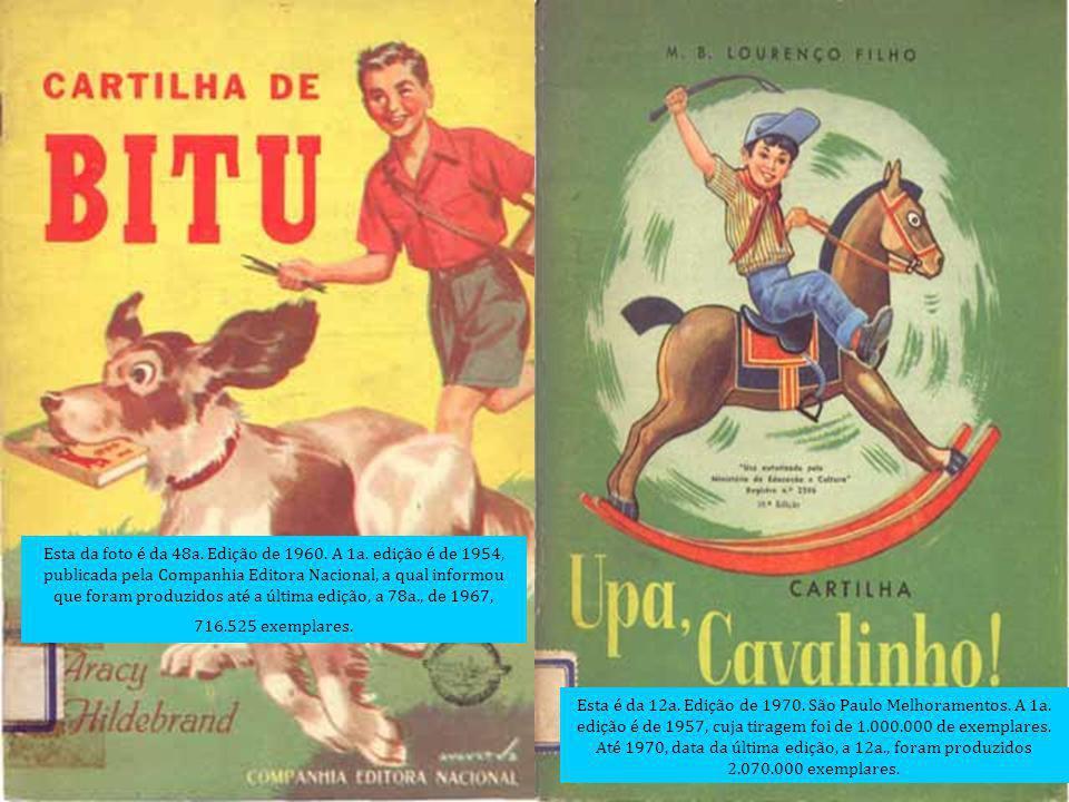 Esta da foto é da 48a. Edição de 1960. A 1a. edição é de 1954, publicada pela Companhia Editora Nacional, a qual informou que foram produzidos até a ú