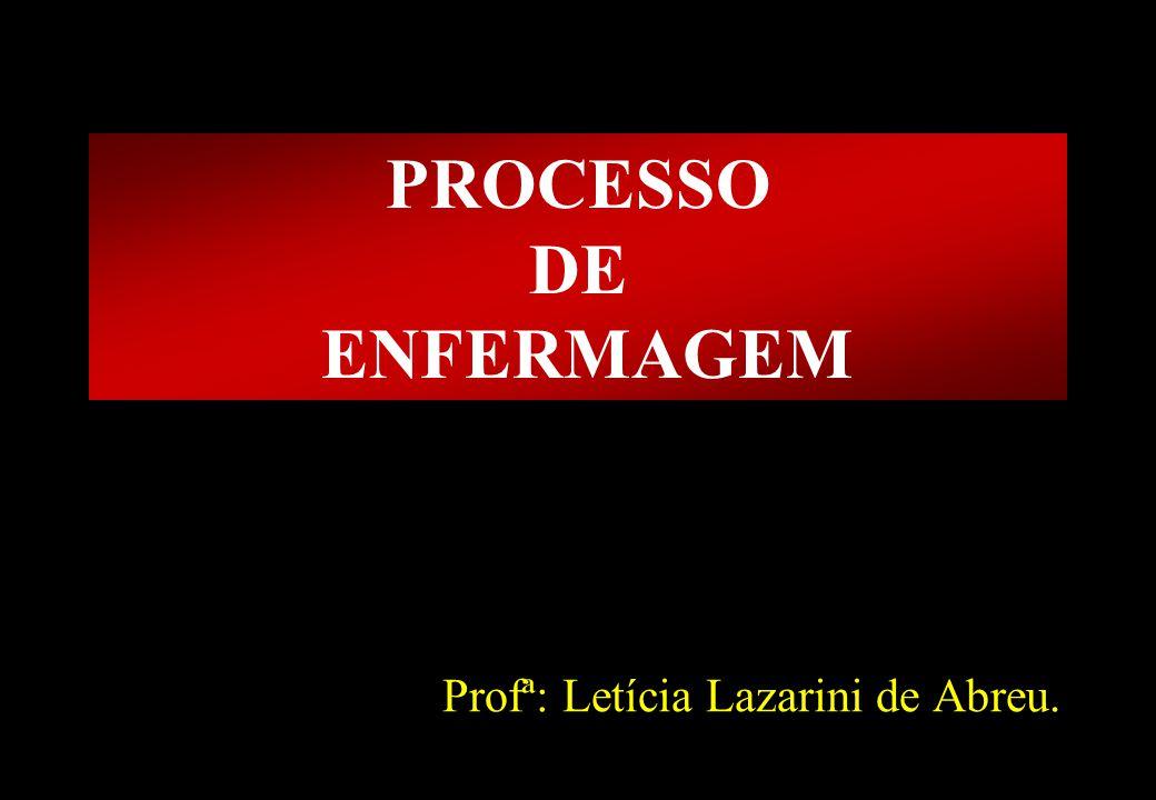 Prof MS Creto Valdivino e Silva PROCESSO DE ENFERMAGEM Profª: Letícia Lazarini de Abreu.