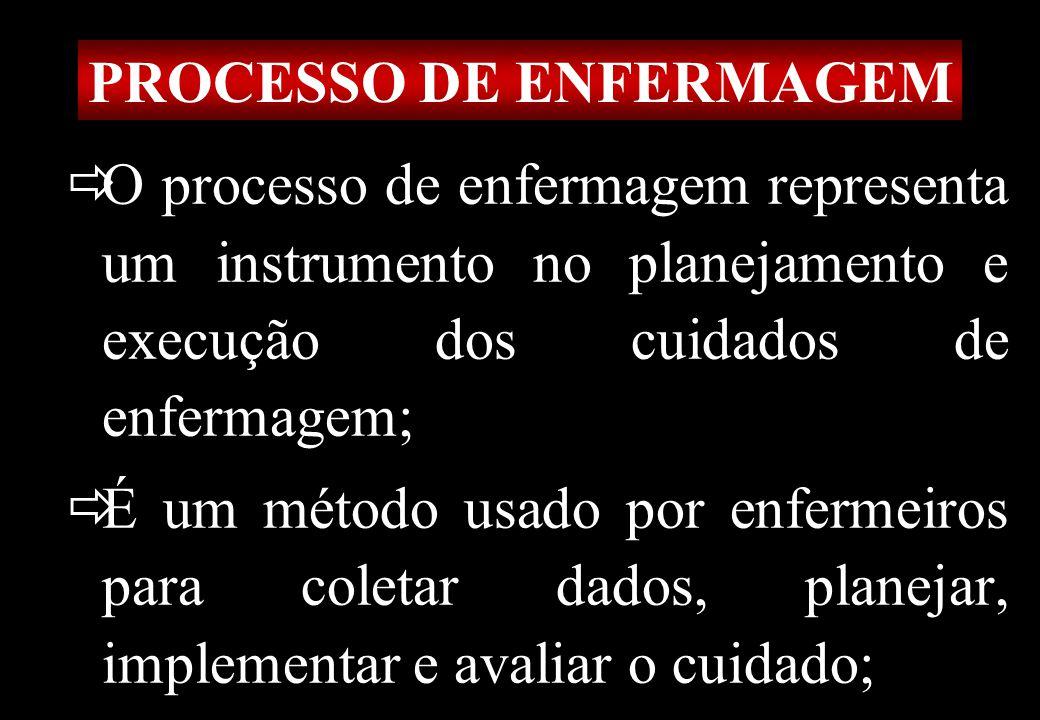 Prof MS Creto Valdivino e Silva PROCESSO DE ENFERMAGEM O processo de enfermagem representa um instrumento no planejamento e execução dos cuidados de e