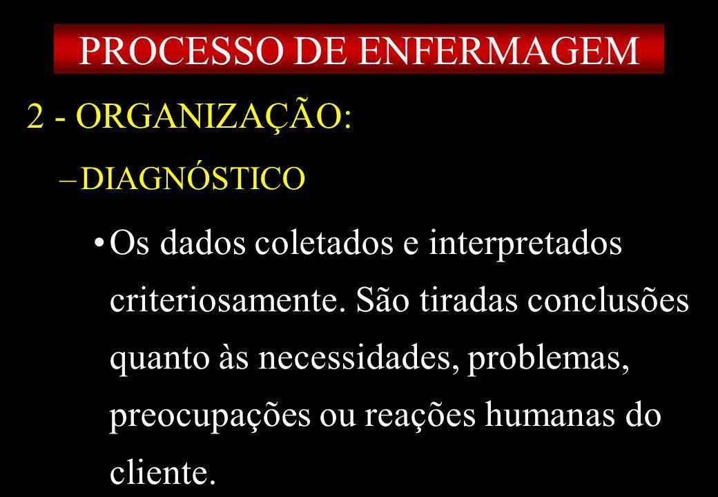 Prof MS Creto Valdivino e Silva 2 - ORGANIZAÇÃO: –DIAGNÓSTICO Os dados coletados e interpretados criteriosamente. São tiradas conclusões quanto às nec
