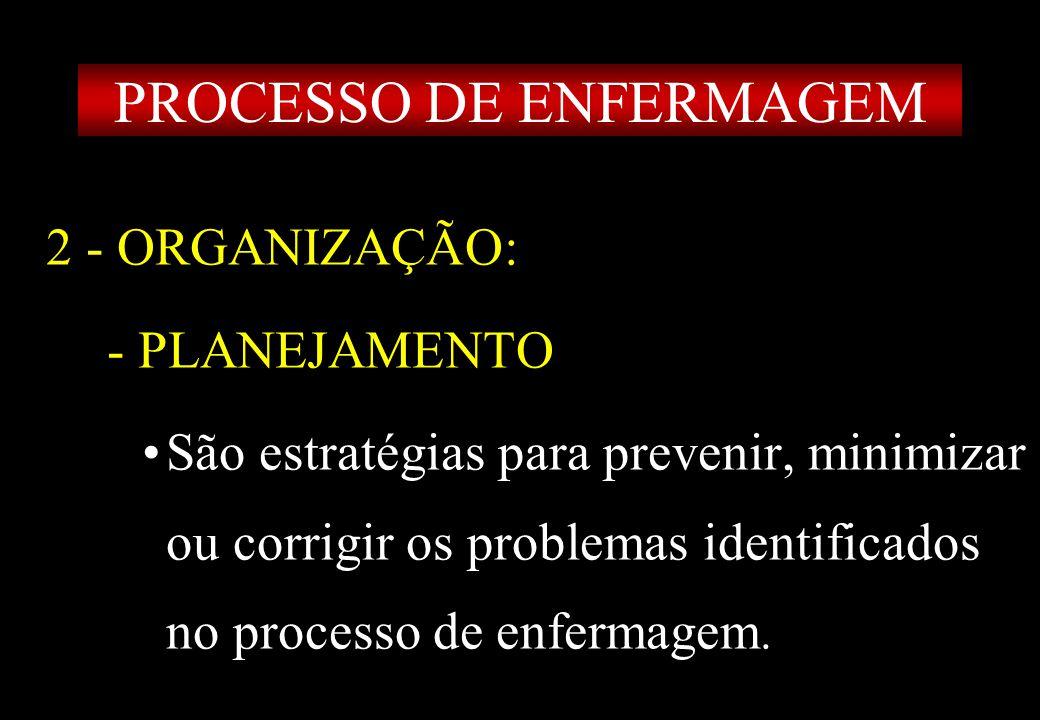 Prof MS Creto Valdivino e Silva 2 - ORGANIZAÇÃO: - PLANEJAMENTO São estratégias para prevenir, minimizar ou corrigir os problemas identificados no pro