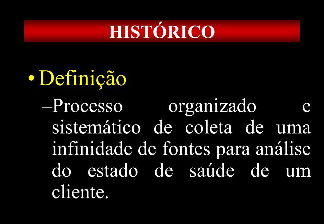 Prof MS Creto Valdivino e Silva HISTÓRICO Definição –Processo organizado e sistemático de coleta de uma infinidade de fontes para análise do estado de
