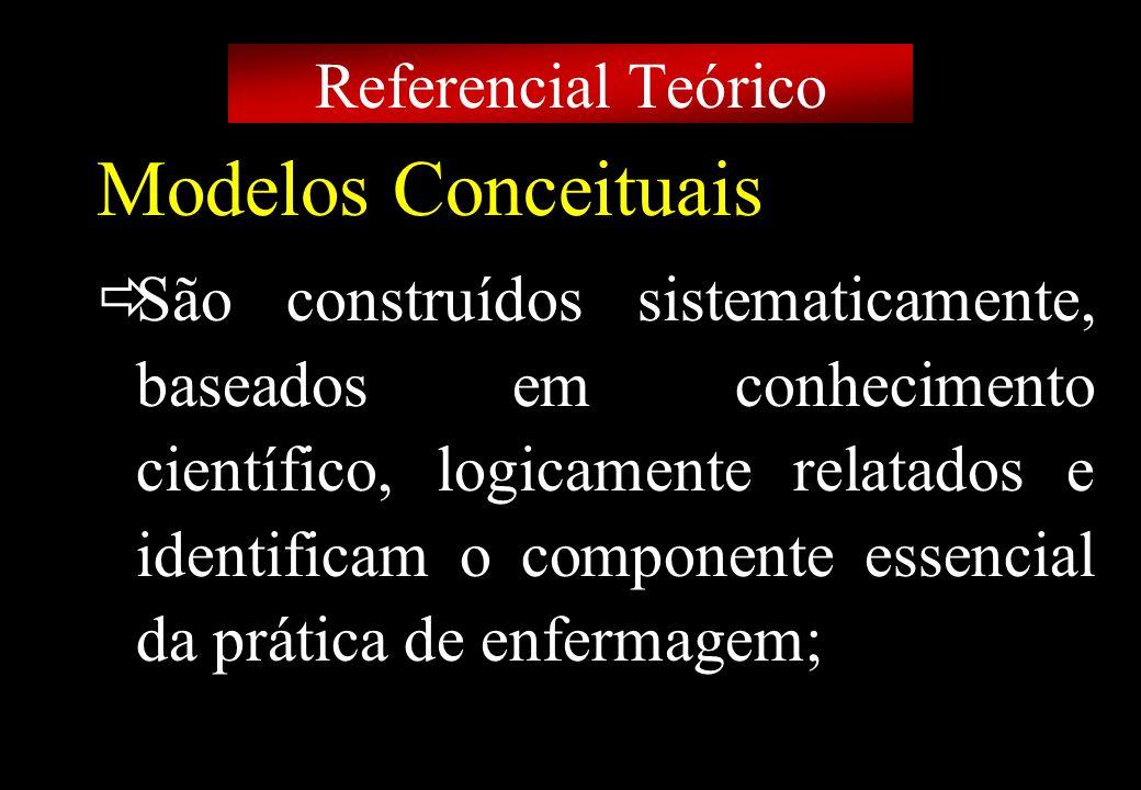Prof MS Creto Valdivino e Silva Modelos Conceituais Proposição que descrevem e explicam fenômenos; Referem-se a idéias globais sobre indivíduos, grupos, situações e eventos de interesse.