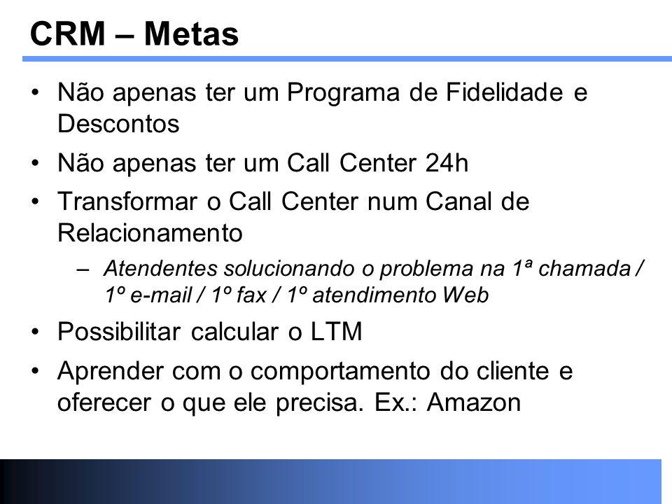 Não apenas ter um Programa de Fidelidade e Descontos Não apenas ter um Call Center 24h Transformar o Call Center num Canal de Relacionamento –Atendent