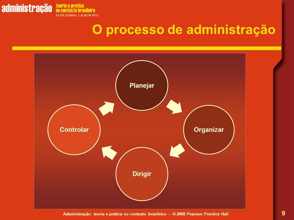 Administração: teoria e prática no contexto brasileiro © 2008 Pearson Prentice Hall O processo de administração 9