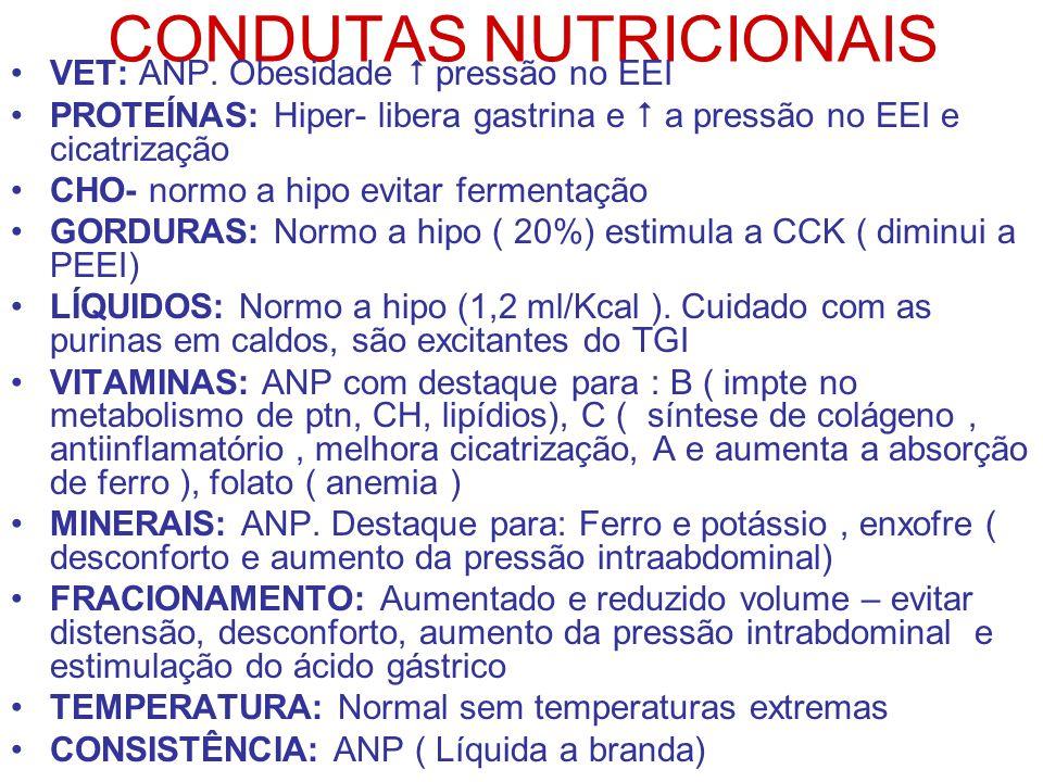 CONDUTAS NUTRICIONAIS VET: ANP.