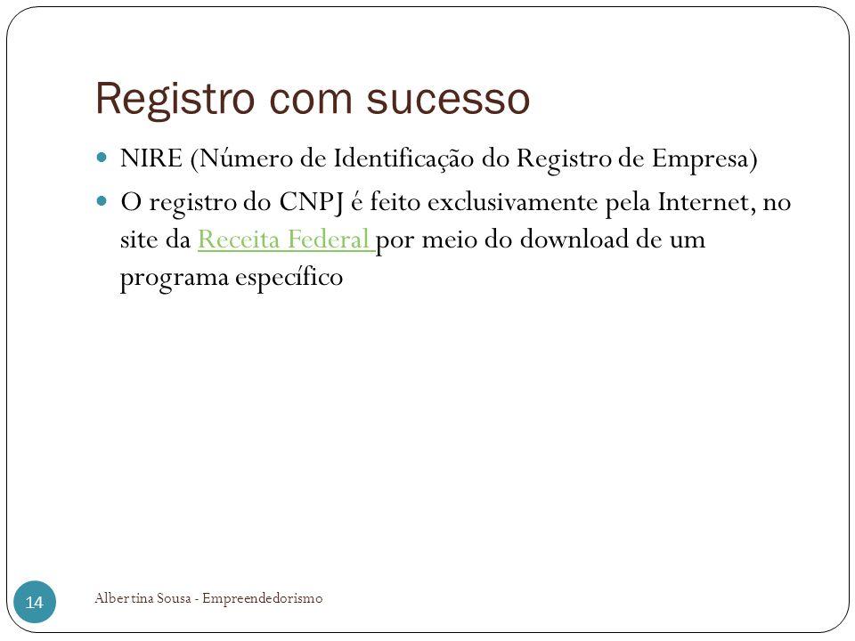 Registro com sucesso NIRE (Número de Identificação do Registro de Empresa) O registro do CNPJ é feito exclusivamente pela Internet, no site da Receita