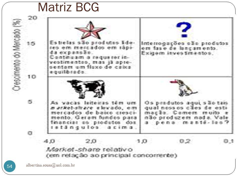 Matriz BCG albertina.sousa@uol.com.br 54