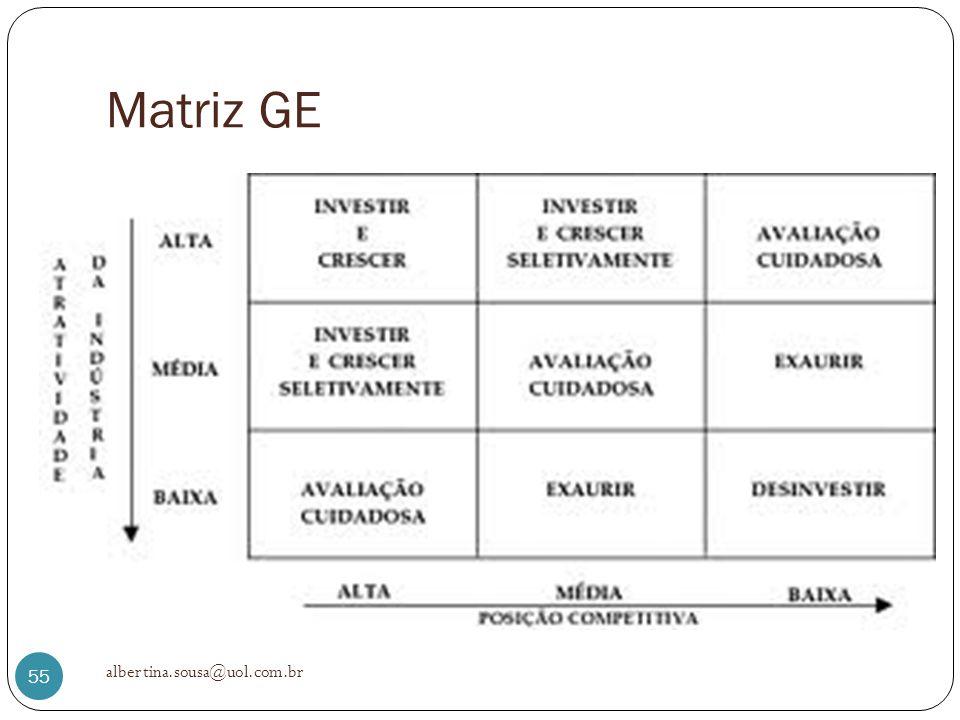 Matriz GE albertina.sousa@uol.com.br 55