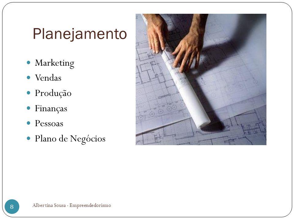 Planejamento Marketing Vendas Produção Finanças Pessoas Plano de Negócios 8 Albertina Sousa - Empreendedorismo