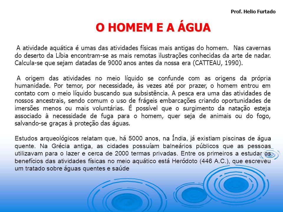 A atividade aquática é umas das atividades físicas mais antigas do homem.