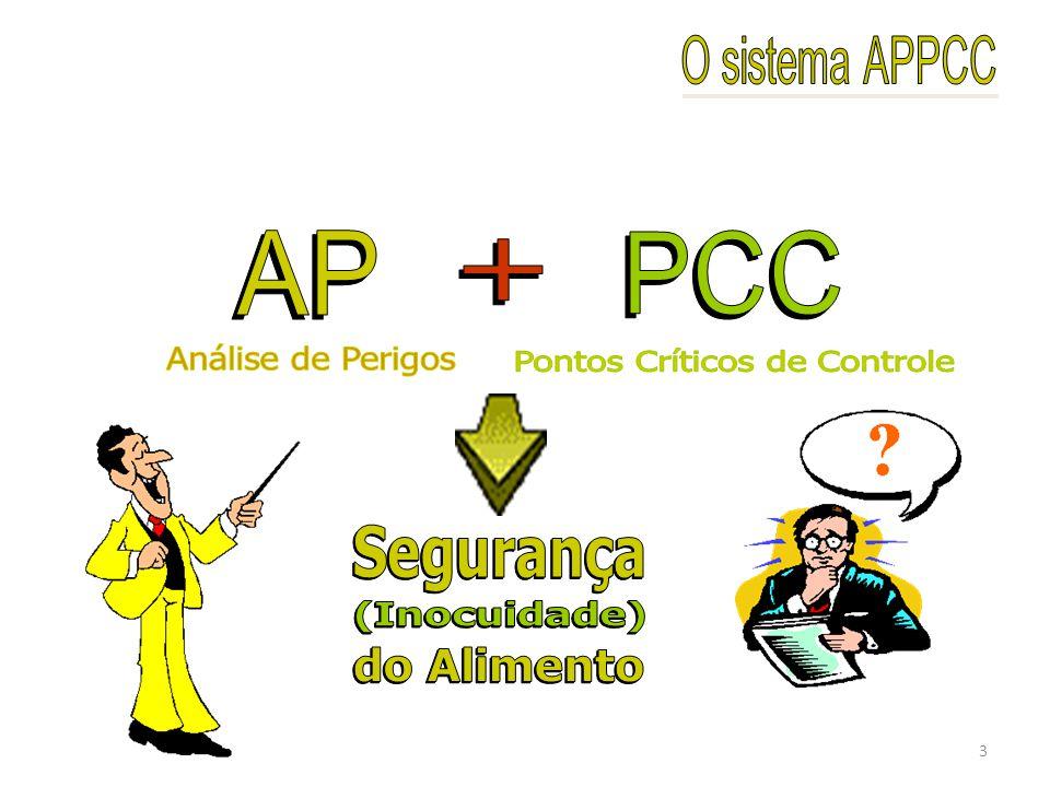PLANO APPCC (HACCP) Constituir a equipe APPCC Descrição do uso intencional do produto Construção do diagrama de fluxo Princípio 1: Identificação dos perigos potenciais e as medidas de controle Princípio 2: Determinação dos pontos críticos de controle (PCCs) Princípio 3: Determinação dos critérios Princípio 4: Procedimentos de monitoramento Princípio 5: Ações corretivas Princípio 6: Procedimentos de registros Princípio 7: Procedimentos de verificação e validação Verificação in loco do fluxograma Descrição do produto, matérias-primas e ingredientes 4