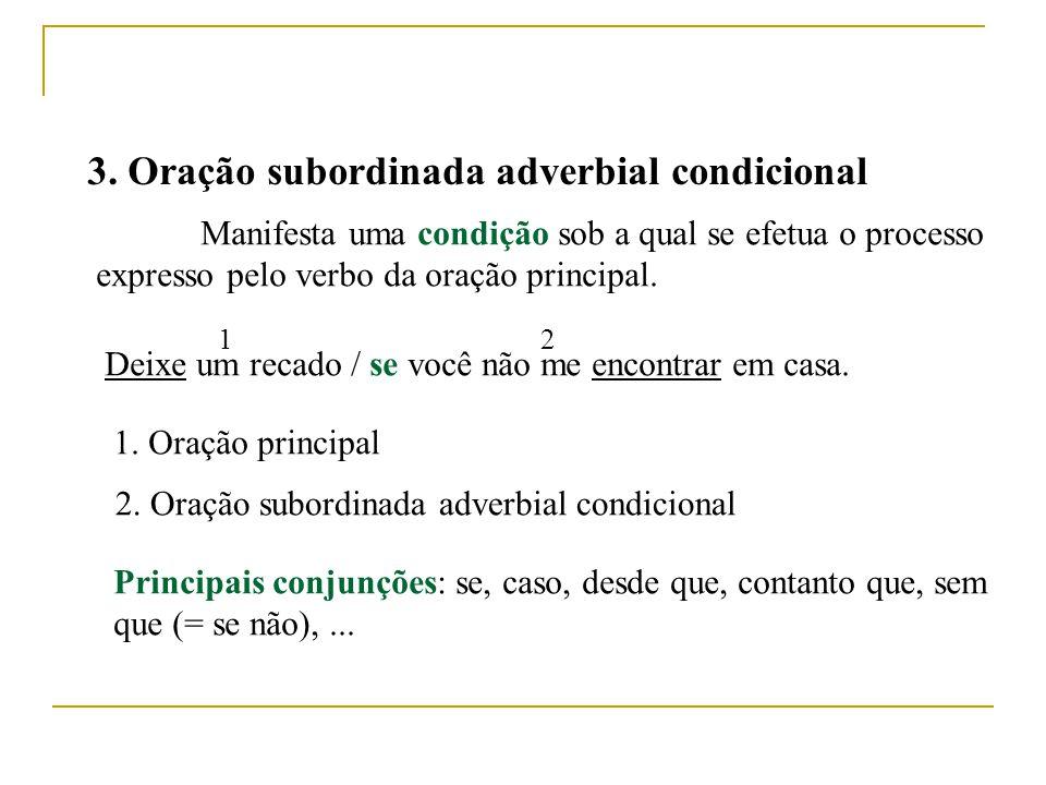 2. Oração subordinada adverbial consecutiva Indica uma conseqüência decorrente do processo expresso pelo verbo da oração principal. Falaram tão mal do
