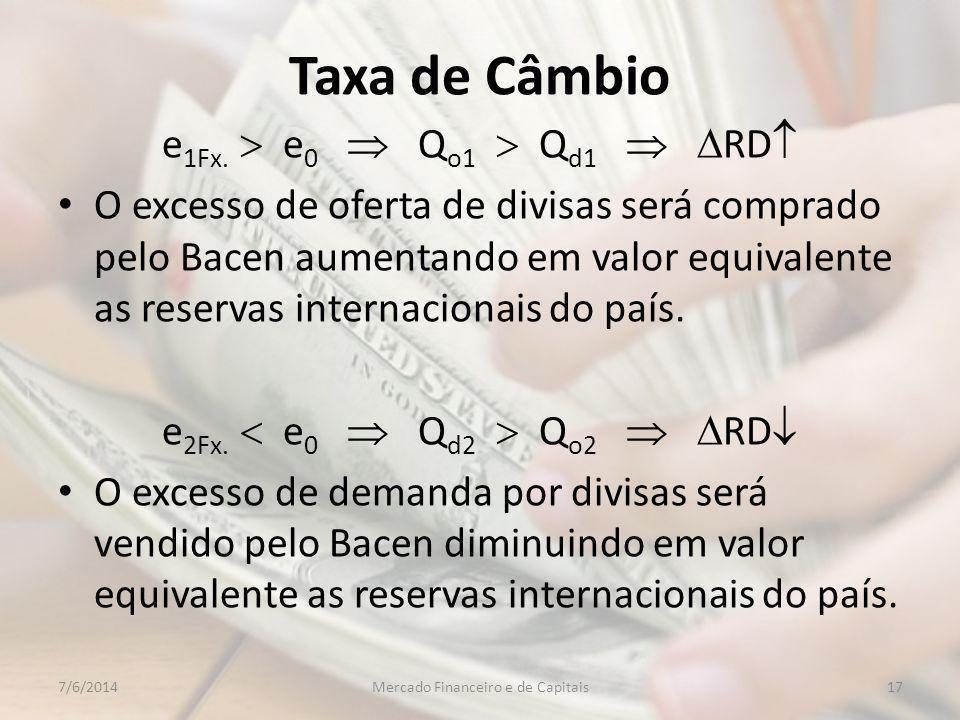 Taxa de Câmbio e 1Fx.