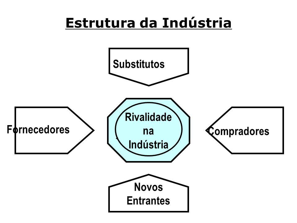 Estrutura da Indústria Substitutos Fornecedores Compradores Novos Entrantes Rivalidade na Indústria