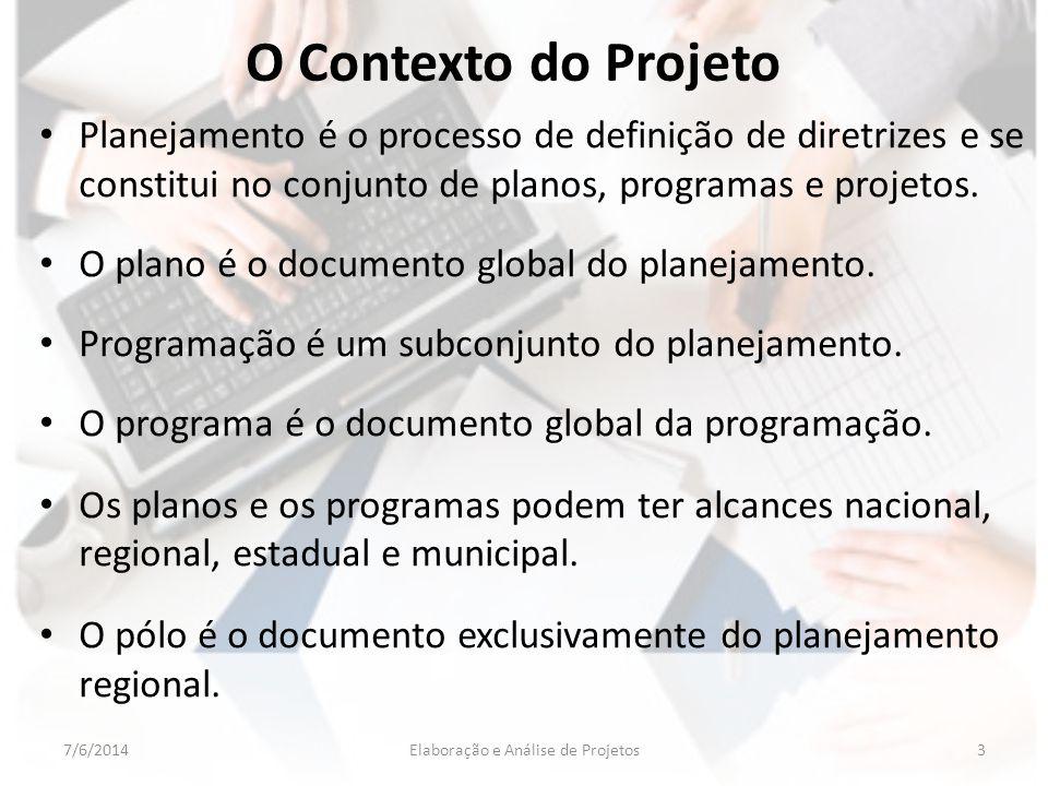 Planejamento é o processo de definição de diretrizes e se constitui no conjunto de planos, programas e projetos. O plano é o documento global do plane