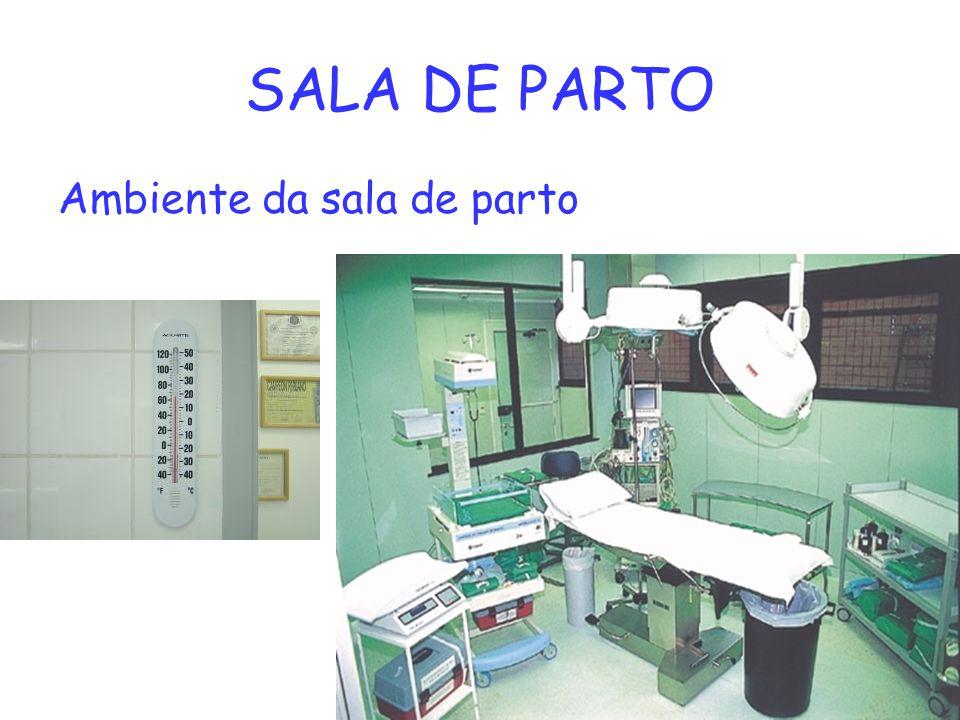 SALA DE PARTO Ambiente da sala de parto