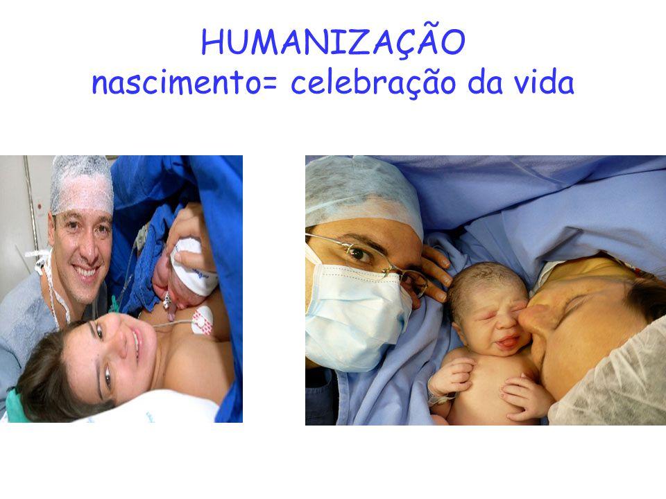 HUMANIZAÇÃO nascimento= celebração da vida