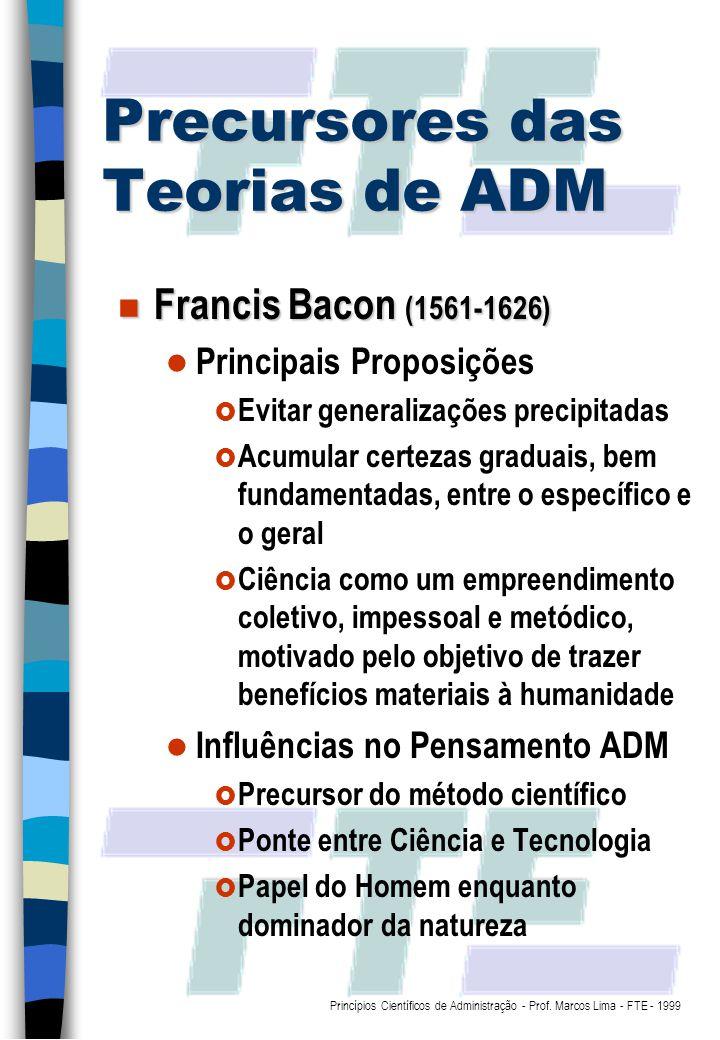 Princípios Científicos de Administração - Prof.