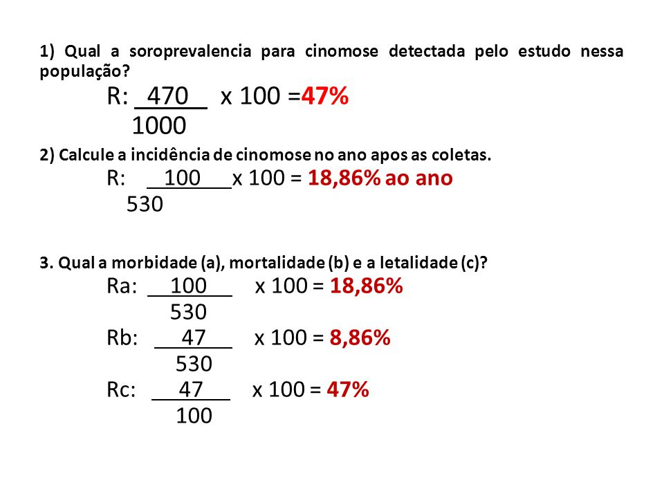 1) Qual a soroprevalencia para cinomose detectada pelo estudo nessa população.
