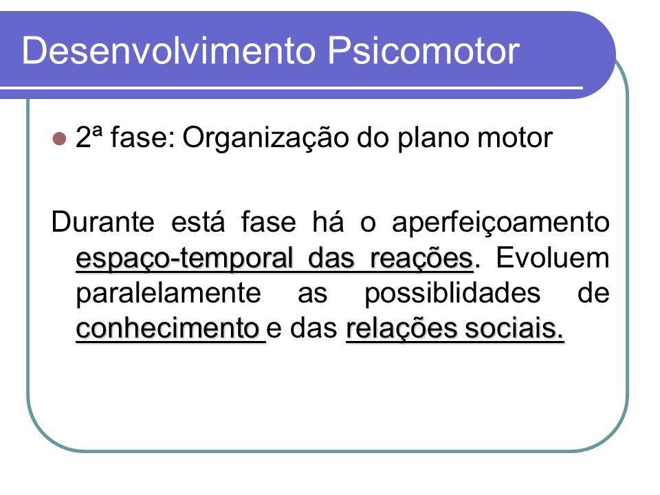 Desenvolvimento Psicomotor 3ª fase: Automatização do adquirido.
