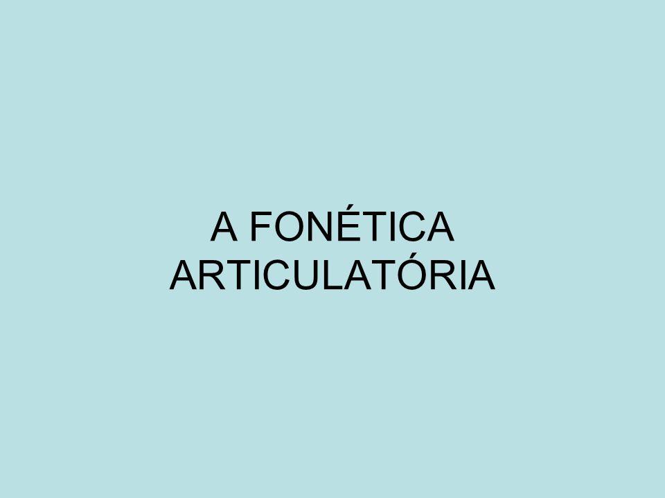 A FONÉTICA ARTICULATÓRIA