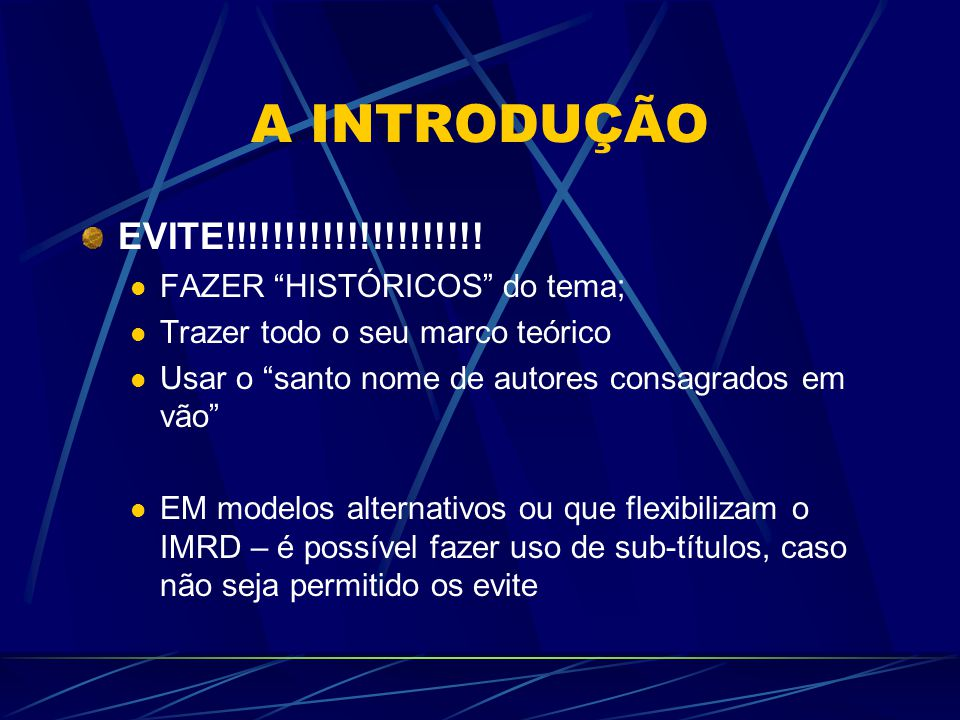 RESULTADOS – Evite!!!!!!!!.DESINTEGRAÇÃO DAS UNIDADES DO TEXTO.