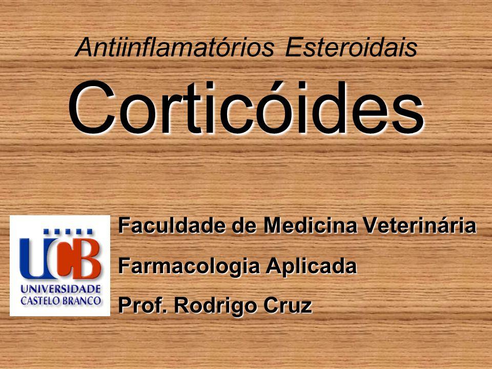 Corticóides Antiinflamatórios Esteroidais Corticóides Faculdade de Medicina Veterinária Farmacologia Aplicada Prof.
