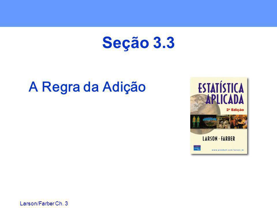 Larson/Farber Ch. 3 Seção 3.3 A Regra da Adição