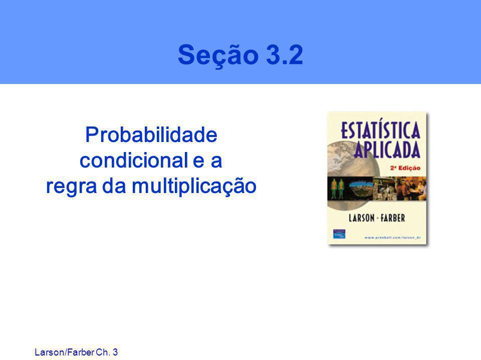 Larson/Farber Ch. 3 Seção 3.2 Probabilidade condicional e a regra da multiplicação