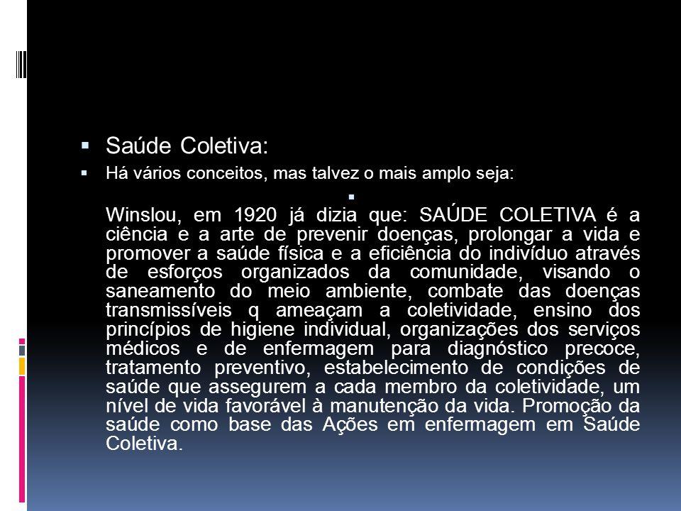 Saúde Coletiva surgiu na década de 70 contestando os atuais paradigmas de saúde existentes na América Latina buscando uma forma de superar a crise no campo da saúde.